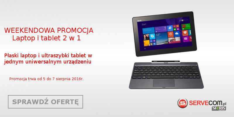 Promocja laptopy i tablety 2w1