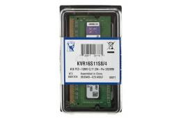Pamięć RAM Kingston KVR16S11S8/4 (DDR3 SO-DIMM; 1 x 4 GB; 1600 MHz; CL11)