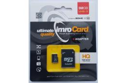 Zestaw kart pamięci IMRO MicroSD10/32G UHS-3 ADP (32GB; Class U3; Adapter, Karta pamięci)