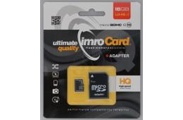 Zestaw kart pamięci IMRO 10/16G UHS-I ADP (16GB; Class U1; + adapter)