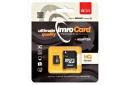 Zestaw kart pamięci IMRO 10/8G ADP (8GB; Class 10; + adapter)